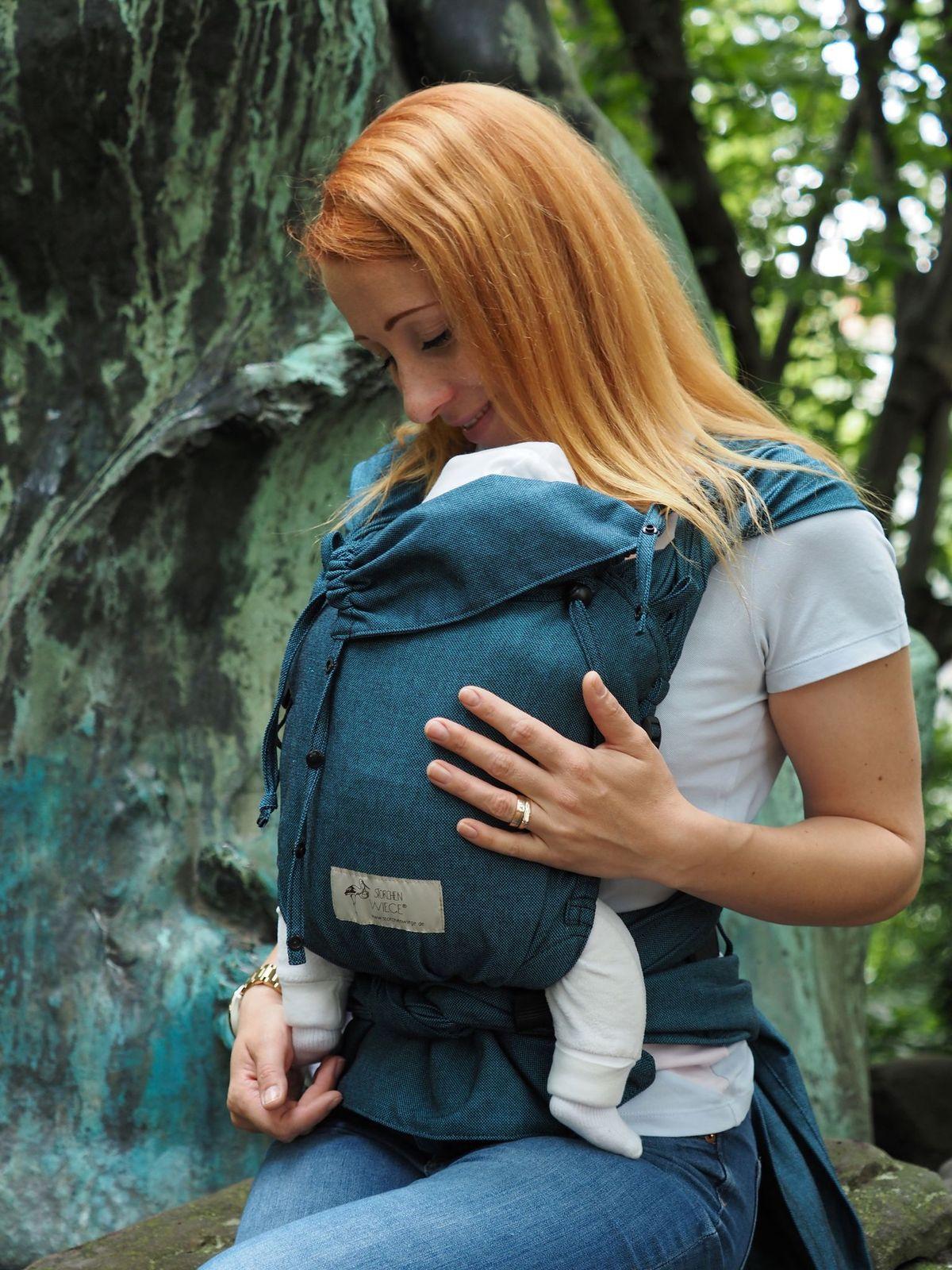 Babycarrier STORCHENWIEGE NOUVEAU - Wrap Babycarrier Storchenwiege Turquoise