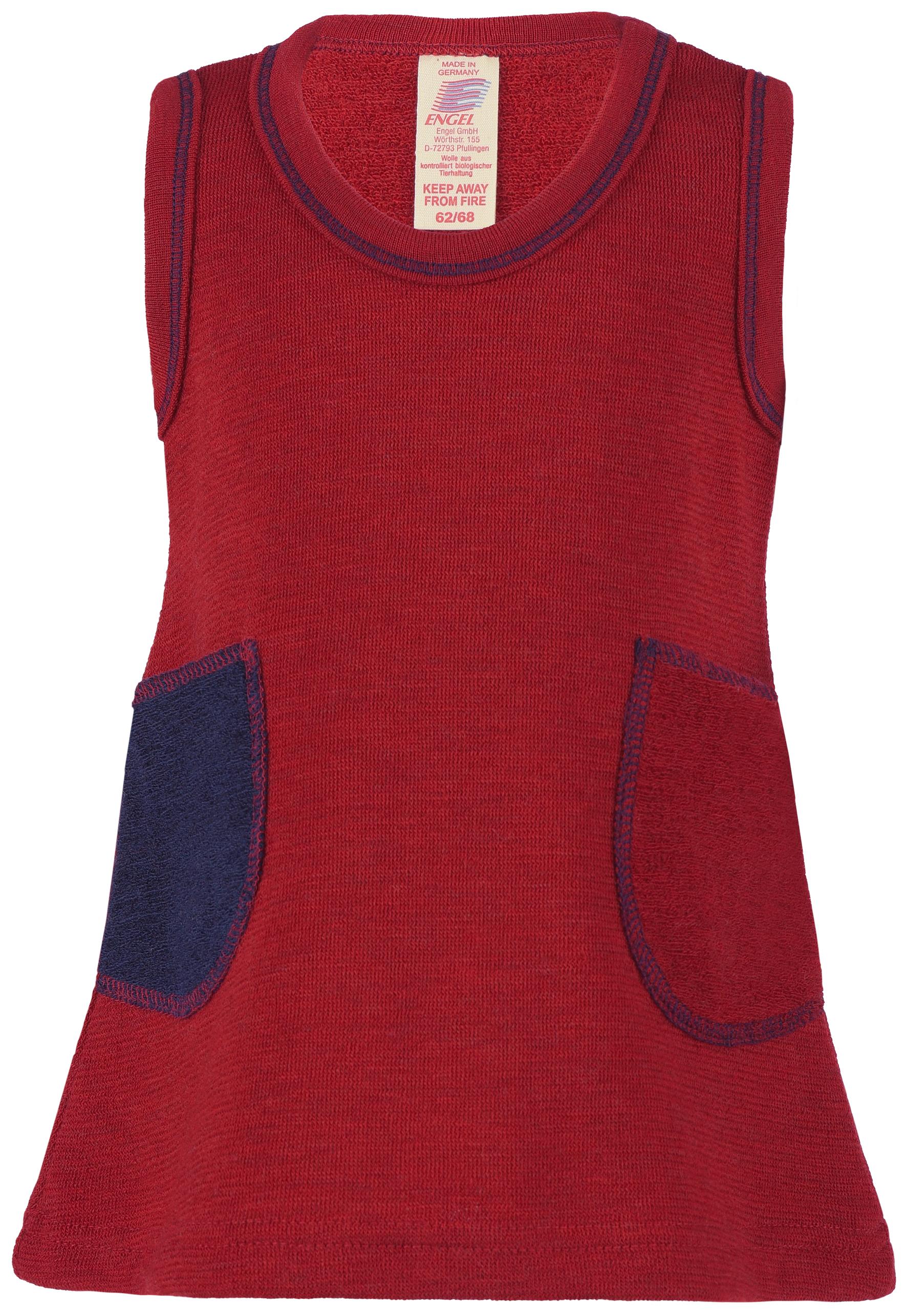 Robes et jupes ENGEL Nouveauté - ROBE sans manches Trapèze Rouge (74-116)