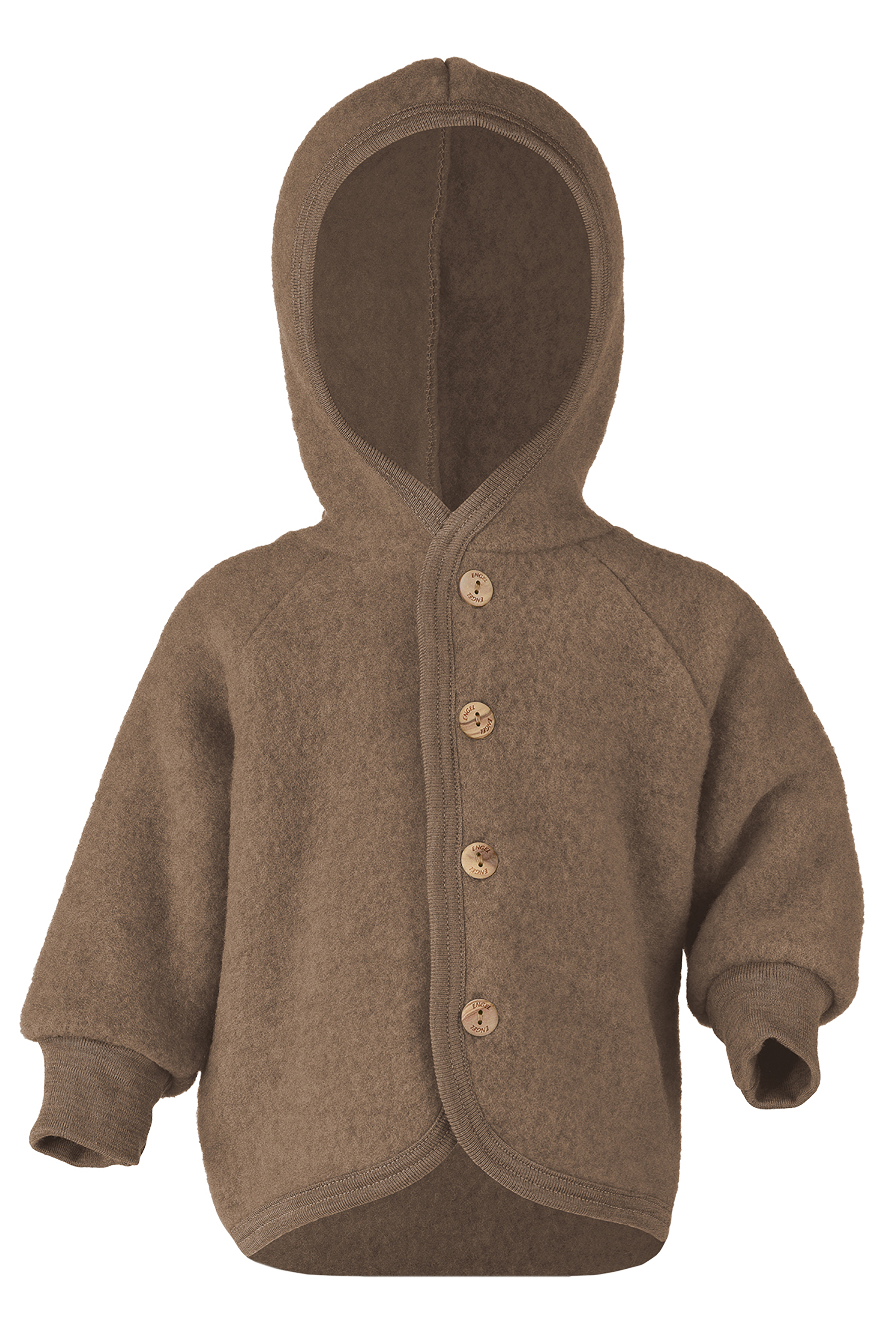 ENGEL Natur (sous-vetements en laine et soie ou 100% laine mérinos) ENGEL Nouveauté - Manteaux bébés avec capuche en 100% laine mérinos, polaire (50 au 92)