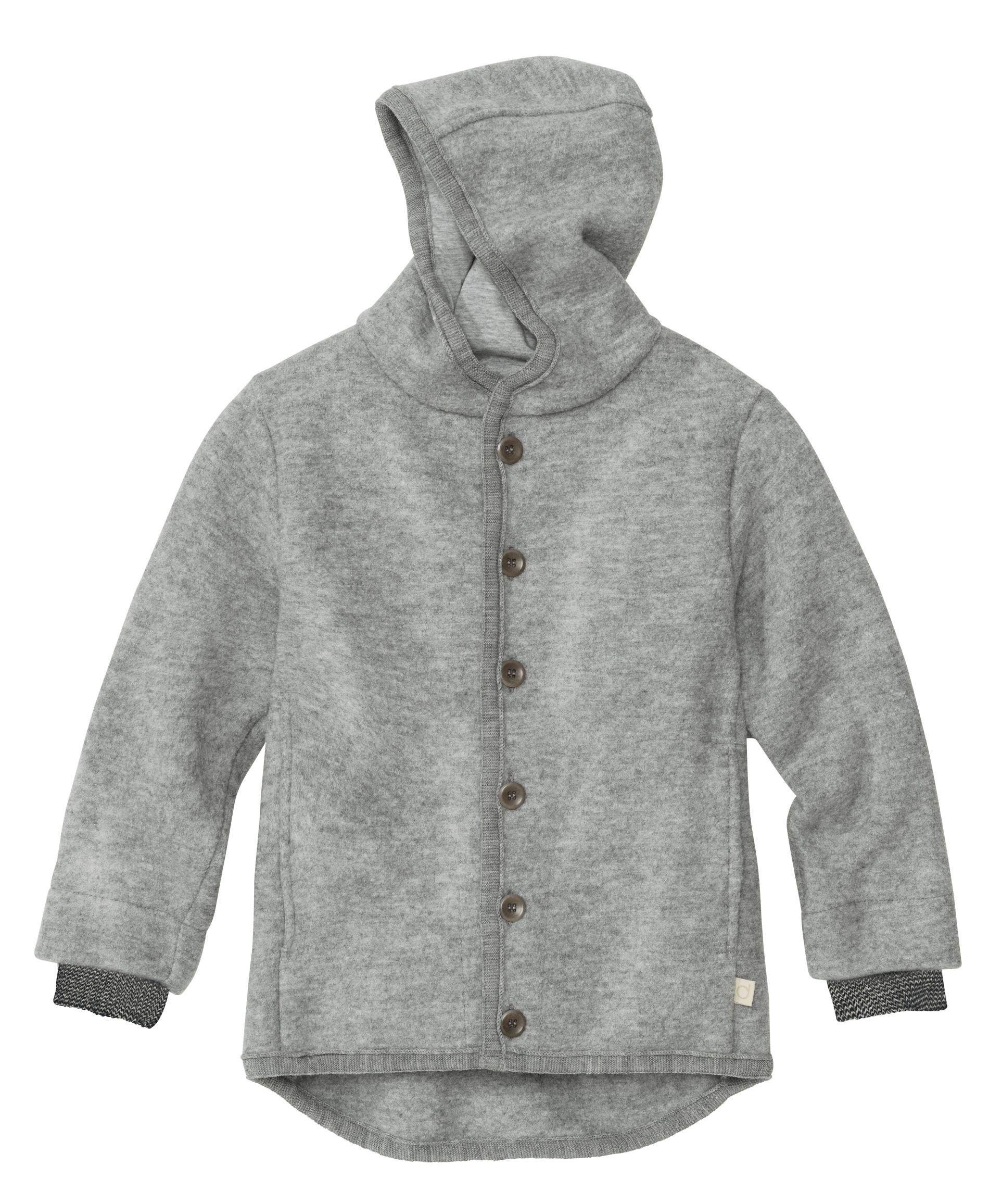 Coup de coeur Disana 21 - Manteau en laine mérinos bouillie bio avec capuche doublé coton bio