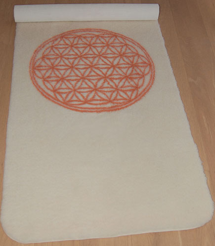 Tapis de yoga et massage Tapis de Yoga en laine THE SPIRIT OF OM