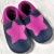 Chaussons en cuir souples, chaussettes, guêtres, jambières Chausson Pololo PETITE ETOILE Gentiane-Fuchsia  (18-41) – NOUVEAU