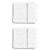 Coup de coeur GLOOP ! Set de 2 Maxi langes 100x100 en 100% mousseline de coton bio