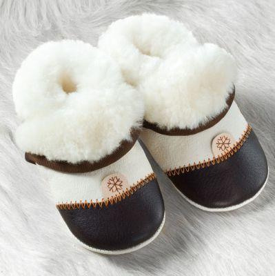 Vestes et manteaux MaM Chausson Pololo DOUCEUR MARRON - en peau d'agneau