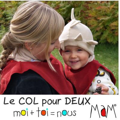 Col de portage MaM DICKEY - Col pour deux en polaire