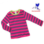 Racine/STORCHENKINDER - T-SHIRT fille manches longues - RAYURES FUCHSIA-VIOLET