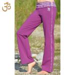 Racine/Pantalon de yoga VIOLA – batik et broderie OM