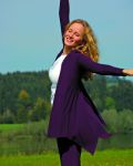 Gilets pour Femmes/Gilet long ANANDA – AUBERGINE