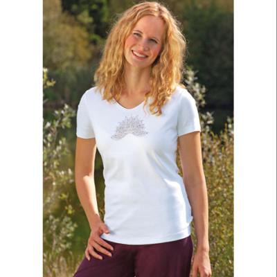 T-SHIRT Manches courtes T-Shirt manches courtes LOTUS ANANDA BLANC
