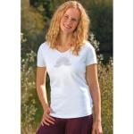 Racine/T-Shirt manches courtes LOTUS ANANDA BLANC