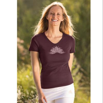 Racine T-Shirt manches courtes LOTUS ANANDA AUBERGINE
