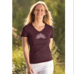 Racine/T-Shirt manches courtes LOTUS ANANDA AUBERGINE