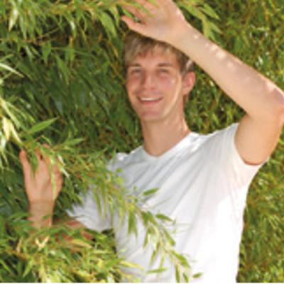 Pour homme T-Shirt col V en bambou manches courtes – BLANC