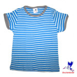 Racine/T-Shirt à rayures BLEU en coton bio