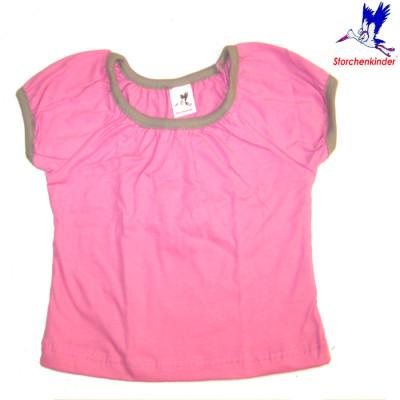 Racine STORCHENKINDER – T-Shirt manches courtes ROSE UNI en coton bio