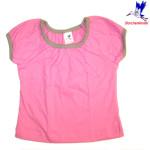 Racine/STORCHENKINDER – T-Shirt manches courtes ROSE UNI en coton bio