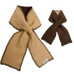 Laine 100% mérinos Ancienne Collection/MANYMONTHS – NECKIE - écharpe sans nœud ajustable en pure laine mérinos