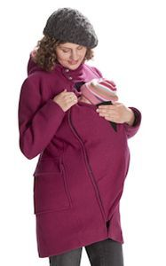 Foire aux bonnes affaires MAMALILA - Manteau de grossesse et portage  à capuche en laine