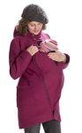Racine/MAMALILA - Manteau de grossesse et portage  à capuche en laine