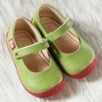 POLOLO MINI - chaussures en cuir naturel pour bébés du 19 au 25/POLOLO Ballerines GRANADA pistache (19 au 23)