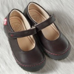 POLOLO MAXI - chaussures pour enfants en cuir écologique  du 24 au 34/Pololo – Ballerines MERCEDES CHATAIGNE(24 au 34)
