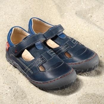 POLOLO MAXI - chaussures pour enfants en cuir écologique  du 24 au 34 Pololo – Sandales ALICANTE BLEU (24 au 34)