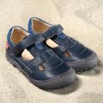POLOLO MAXI - chaussures pour enfants en cuir écologique  du 24 au 34/Pololo – Sandales ALICANTE BLEU (24 au 34)