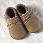POLOLO SOFT - Chaussons souples en cuir naturel de tannage végétal pour enfants (24 à 39)/Chausson Pololo UNI  brownie (24 à 39)