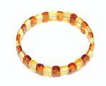 BRACELETS en Ambre/Bracelets d'ambre PLAQUES MULTICOULEURS pour ADULTE