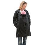 Vestes et manteaux MAMALILA casual/MAMALILA – TRENCHCOAT de grossesse et portage 3 en 1 NOIR-FUCHSIA
