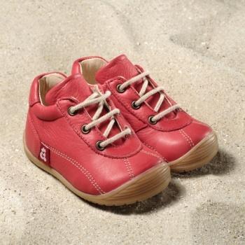 POLOLO MINI - chaussures en cuir naturel pour bébés du 19 au 25 Chaussure Pololo ANTON rouge (19 au 25)