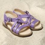 POLOLO MAXI - chaussures pour enfants en cuir écologique  du 24 au 34/Pololo – Sandales NINA LILAS (24 au 34)