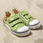POLOLO MAXI - chaussures pour enfants en cuir écologique  du 24 au 34/Pololo – Baskets SOL VERT PISTACHE (24 au 34)