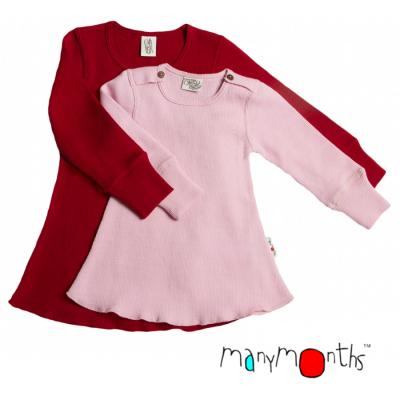 Robes et jupes MANYMONTHS – ROBE-TUNIQUE A MANCHES LONGUES en pure laine mérinos