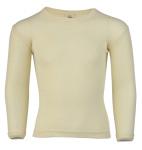 Sous-vêtements/SOUS-PULL manches longues ECRU en laine/soie (tailles 62 à 152)