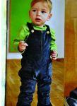 Racine/STORCHENKINDER – Salopette bébé ANTHRACITE velours côtelé de coton bio