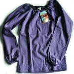 Racine/STORCHENKINDER – T-Shirt  manches longues VIOLET en coton bio épais