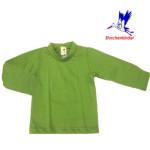 Collection STORCHENKINDER ENFANT (tailles 86-140)/STORCHENKINDER – T-Shirt  manches longues VERT PRINTEMPS en coton bio épais