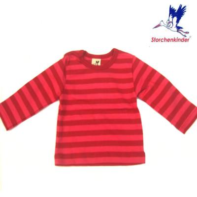 FINS DE SERIES STORCHENKINDER – T-Shirt BEBE manches longues - Rayures rose/rouges