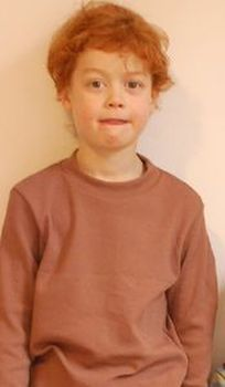 Racine STORCHENKINDER – T-Shirt manches longues garçon – MARRON – taille 86/92