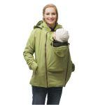 Vestes et manteaux MAMALILA outdoor/MAMALILA - Veste de grossesse et de portage HIVER – PISTACHE