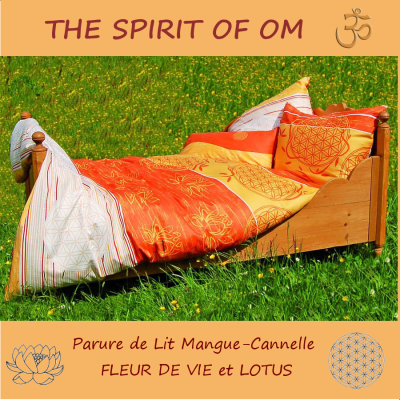 SAUNA et SPA - The Spirit of OM Linge de lit « FLEUR DE VIE » Cannelle-Mangue