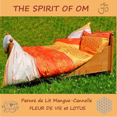 SAUNA et SPA - The Spirit of OM Linge de lit «FLEUR DE VIE» Cannelle-Mangue