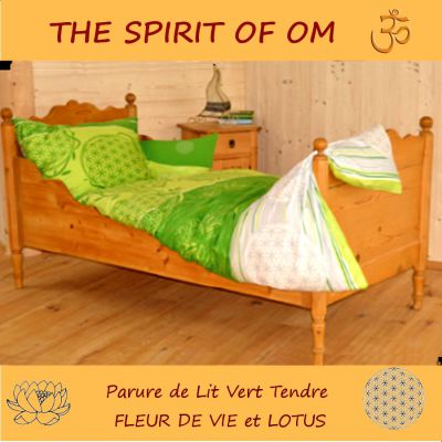 porte bonheur fleur de vie au quartz rose linge de lit bio nerg tique the spirit of om. Black Bedroom Furniture Sets. Home Design Ideas