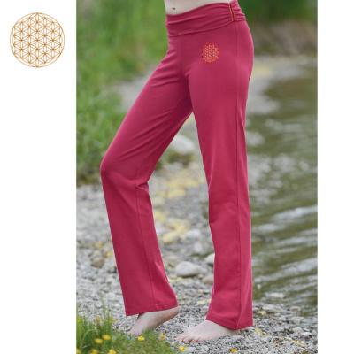 Racine Pantalon de Yoga FLEUR DE VIE – ROUGE