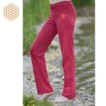 PANTALONS/Pantalon de Yoga FLEUR DE VIE – ROUGE