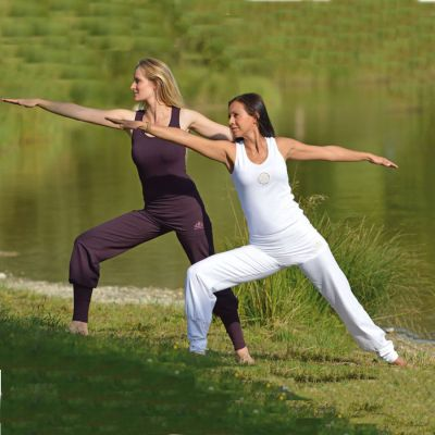 Coussins de méditation Pantalon de Yoga ASANA – AUBERGINE
