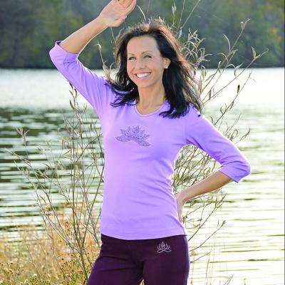 T-Shirt Manches Longues T-Shirt manches 3/4 LOTUS ANANDA AMETHYST