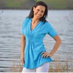 TUNIQUES/SHAMBALA – T-Shirt femme manches courtes