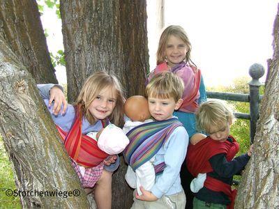 Écharpes STORCHENWIEGE Echarpe  Porte-Poupée pour les petits